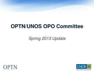 OPTN/UNOS OPO Committee
