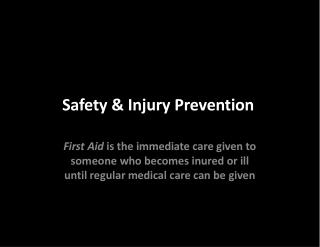 Safety & Injury Prevention