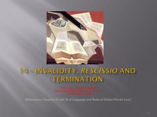 14 14  - Invalidity ,  Rescissio  and Termination
