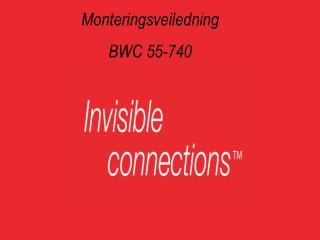 Monteringsveiledning BWC 55-740