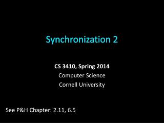 Synchronization  2