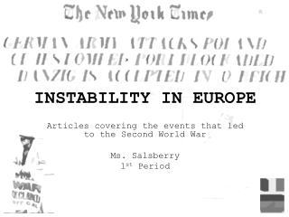 INSTABILITY IN EUROPE