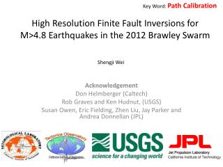 High Resolution Finite Fault Inversions for M>4.8 Earthquakes in the 2012 Brawley Swarm