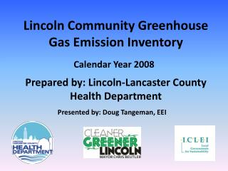 Lincoln Community Greenhouse Gas Emission Inventory