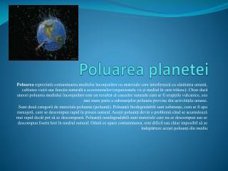 Poluarea planetei