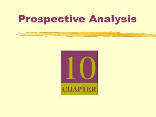 Prospective Analysis