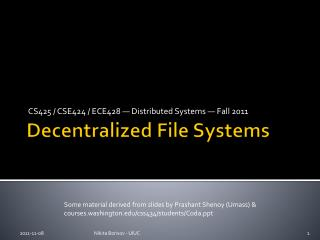 Decentralized File Systems