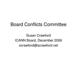 Board Conflicts Committee