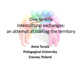 One-to-one  intercultural exchanges :  an attempt  at staking  the  territory