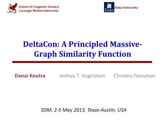 DeltaCon : A Principled Massive-Graph Similarity Function