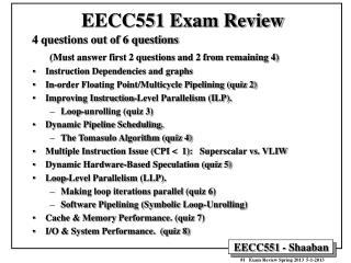 EECC551 Exam Review