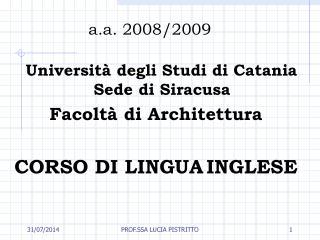 a.a. 2008/2009