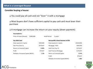 What is a Leveraged Buyout