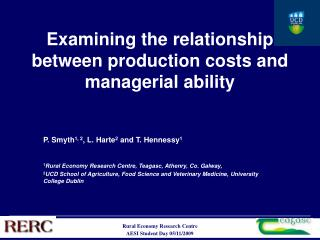 Examining the relationship between production costs and managerial ability