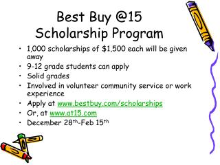 Best Buy @15 Scholarship Program
