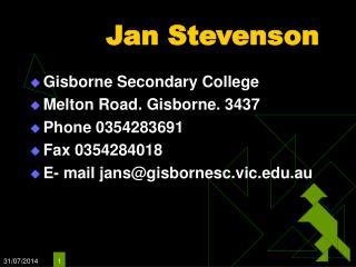 Jan Stevenson