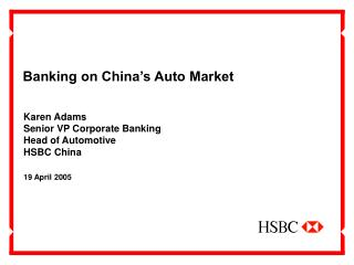 Banking on China's Auto Market
