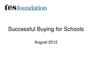 Successful Buying for Schools