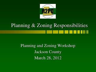 Planning & Zoning Responsibilities