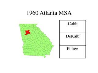 1960 Atlanta MSA