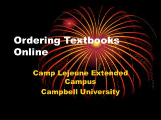 Ordering Textbooks Online
