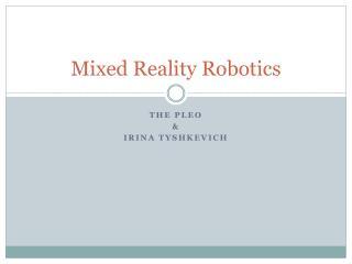 Mixed Reality Robotics