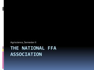 The National FFA Association