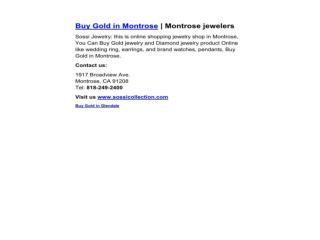 Buy Gold in Montrose