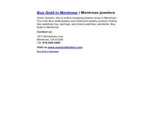 Buy Gold in Montrose