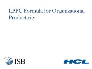 LPPC Formula for Organizational Productivity