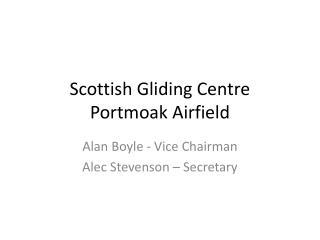 Scottish Gliding Centre Portmoak Airfield