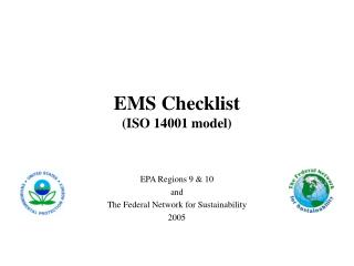 EMS Checklist ISO 14001 model