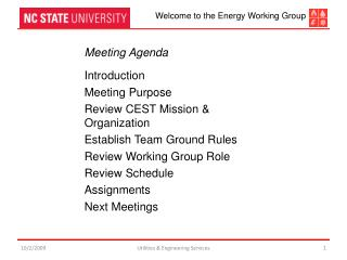 Meeting Agenda Introduction Meeting Purpose Review CEST Mission & Organization