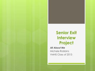 Senior Exit Interview Project