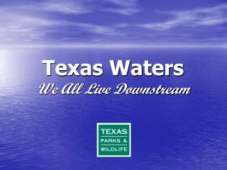 Texas Waters We All Live Downstream
