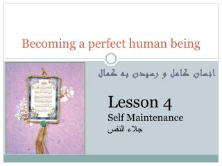 Becoming a perfect human being