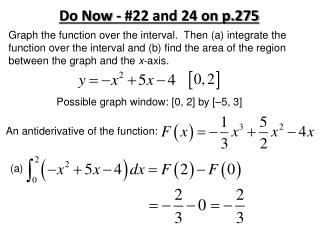 Do Now - #22 and 24 on p.275