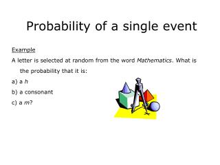 Probability of a single event