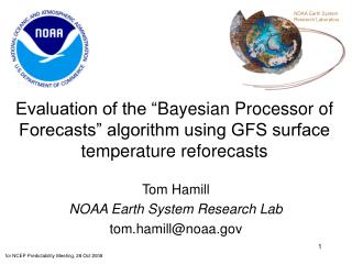 Tom Hamill NOAA Earth System Research Lab tom.hamill@noaa