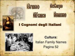 I Cognomi degli Italiani