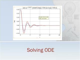 Solving ODE