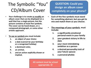 "The Symbolic ""You"" CD/Album Cover"