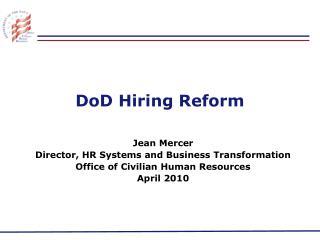 DoD Hiring Reform