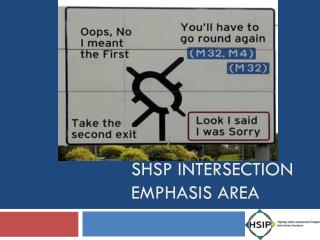 Shsp INTERSECTION EMPHASIS AREA