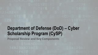 Information Assurance Efforts at the Defense Information Systems Agency  in the DoD