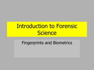 Automated Fingerprint Identification System AFIS Latent Print Process