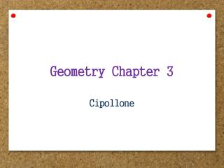 Geometry Chapter 3