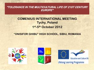 """TOLERANCE IN THE MULTICULTURAL LIFE OF 21ST CENTURY EUROPE"""