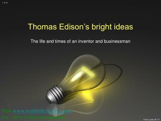 Thomas Edison's bright ideas