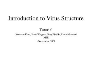 Introduction to Virus Structure